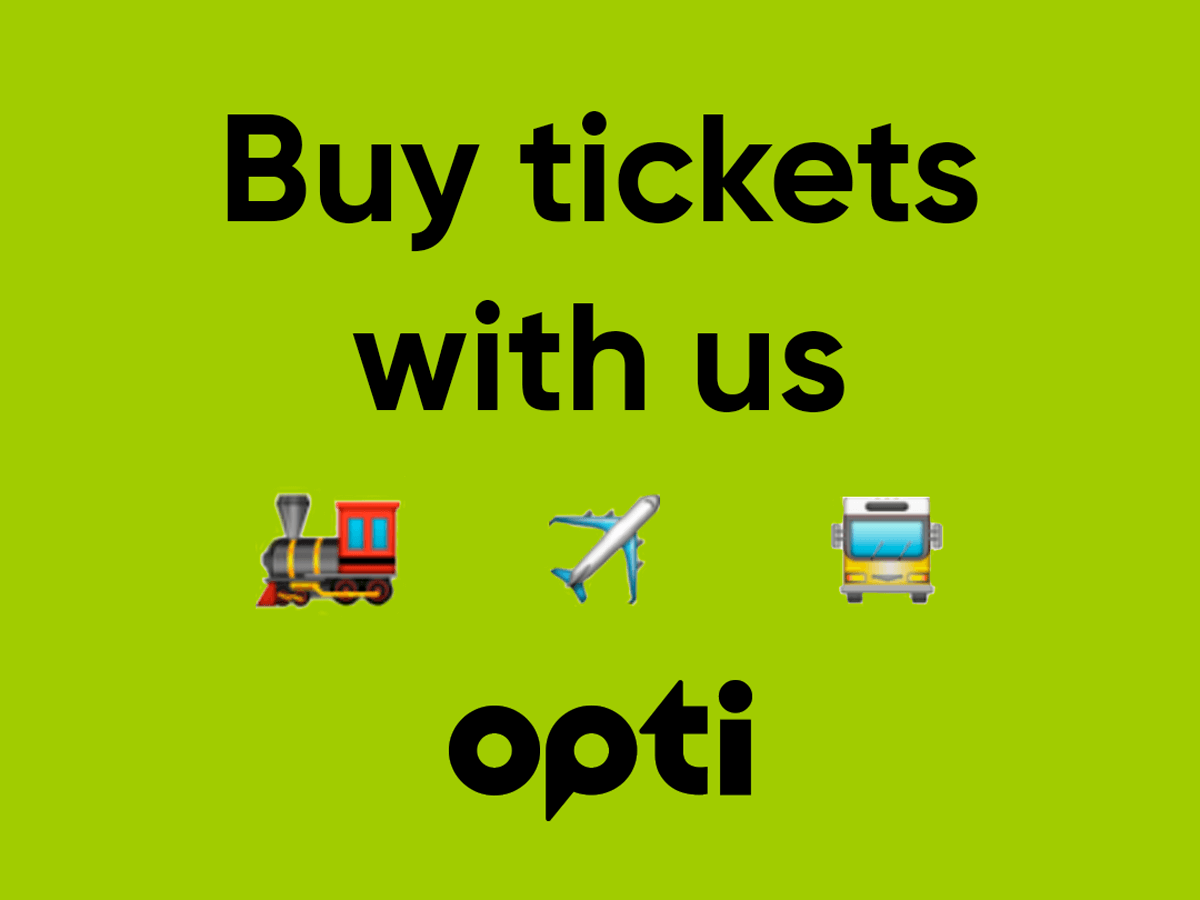 Buy tickets for all modes of transport in the Opti application Lviv