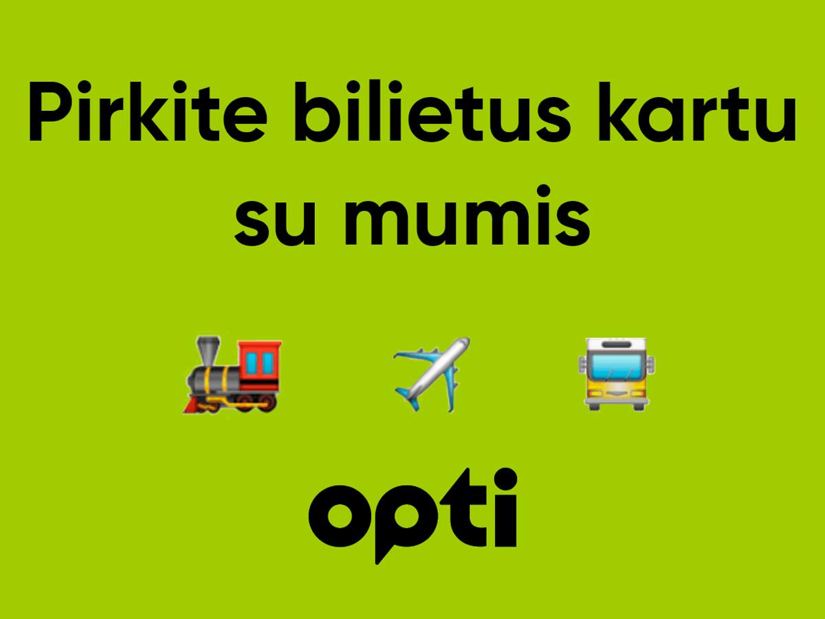 """Pirkite visų transporto rūšių bilietus programoje """"Opti"""" Lvovas"""