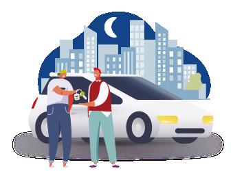 Выбор услуг и авто